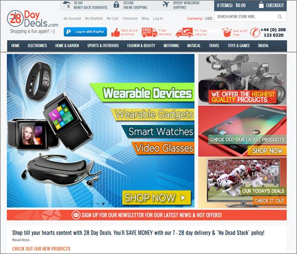 Consumer Electronics Dropship Site